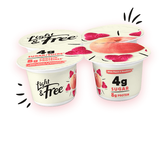 yogurt protein pack peach