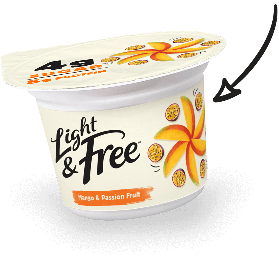 high protein yogurt arrow